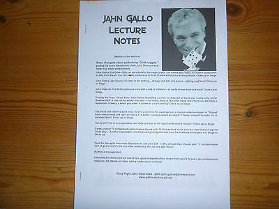 Jahn Gallo Lecture Notes