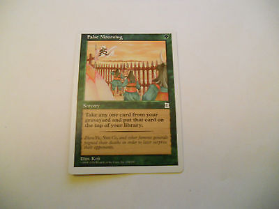 1x MTG False Mourning Magic EDH Porta Three Kingdoms P3K ING Inglese x1