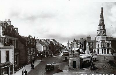 Market Place Selkirk unused RP old postcard by Edwards 3003