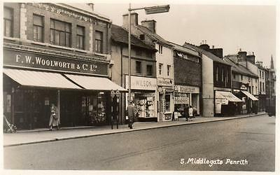 Middlegate Penrith Woolworth Shop unused RP old pc Abraham