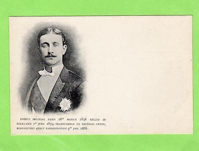 Prince Imperial Zululand Farnborough Napoleon 1856-1879 unused old pc