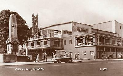Queens Hall Theatre Dunoon unused deckle edge RP old pc Valentines