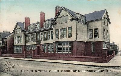Queen Victoria Girls High School Stockton on Tees  old pc used 1906 Phoenix
