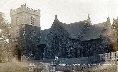 St Andrews Church Stanstead Abbots Nr Ware Hertford RP old pc used 1904 Austin