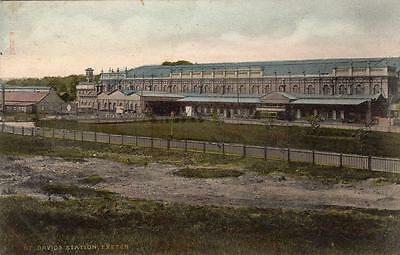 St Davids Railway Station Exeter pc used 1905 ( Fault)