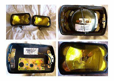 2 Anciens Phares Longue.porte Marchal  759. Vintage. Yellow Headlight . Occasion