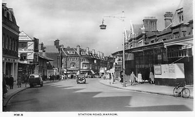 Station Road Harrow unused RP old pc A V Fry