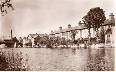 Terrace River Ouse St Neots RP pc used 1951 Valentines