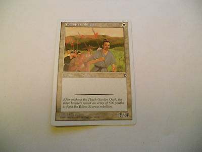 1x MTG Volunteer Militia Magic EDH Portal Three Kingdoms P3K ING Inglese x1