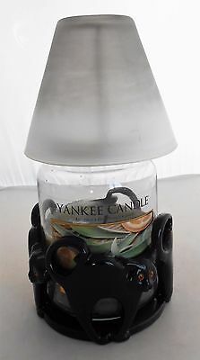 Yankee Candle Black Cats Jar Holder & Candle & Warmer Frame & Glass Shade
