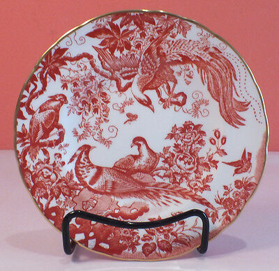 Royal Crown Derby RED AVES Bread and Butter Plate 3 available PERFECT Condition