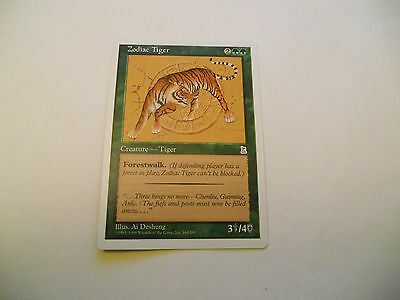 1x MTG Zodiac Tiger Magic EDH Portal Three Kingdoms P3K ING Inglese x1