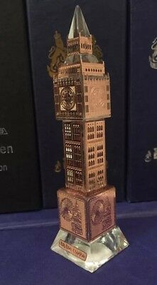 London Big Ben Bronze Plated Crystal with changing lights Souvenir Gift