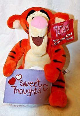 New Rare Winnie the Pooh Disney store exclusive Kiss with Valentine Tigger