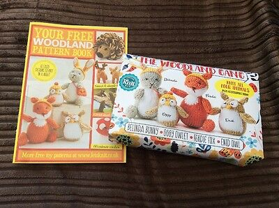 Woodland Gang Knit Kit And Knitting Pattern - Rabbit, Owl And Fox