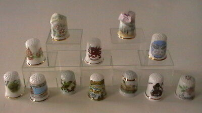 Very collectable bone china thimbles