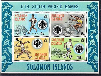 Solomon Islands (885) 1975 5th South Pacific Games Mini sheet Unmounted Sg Ms280