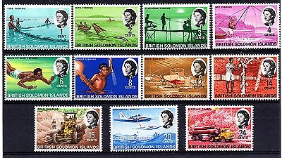 Solomon Islands (888) 1968  set to 24 cents unmounted mint Sg166-176