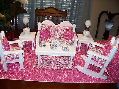 American Made 18 In Doll Living Room Daiseys Free Gift