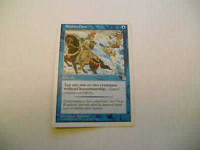 1x MTG Broken Dam Magic EDH Portal Three Kingdoms P3K ING Inglese x1