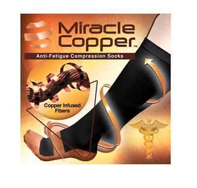 1-3 Pair Miracle Copper Socks Anti Fatigue Compression black UNISEX with box New