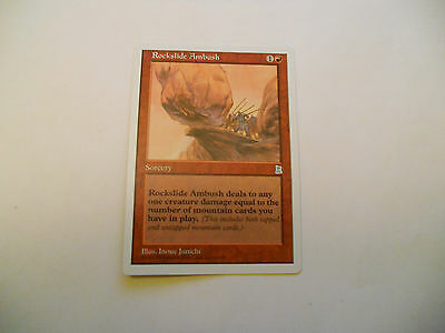 1x MTG Rockslide Ambush Magic EDH Portal Three Kingdoms P3K ING Inglese x1