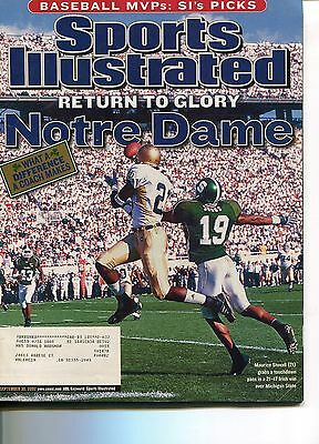 Sports Illustrated  September 30, 2002 Return to Glory NOTRE DAME