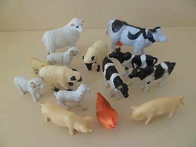 Assorted Plastic Farm Animals.