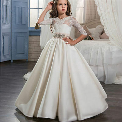 NEW Communion Party Prom Princess Pageant Bridesmaid Wedding Flower Girl Dress+