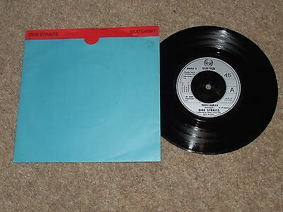 DIRE STRAITS SKATEAWAY = RARE 7inch PICTURE SLEEVE RELEASE