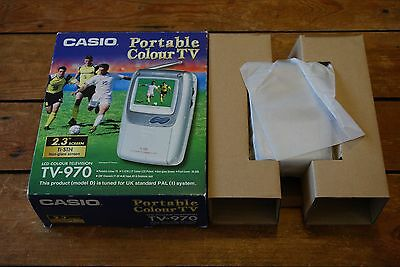 Vintage Nos Casio Tv-970 Portable Pocket Lcd Television Tv Boxed And Never Used