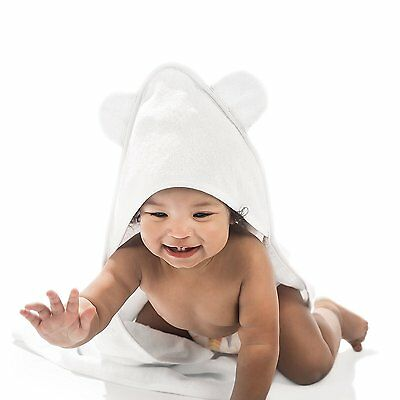 Hooded Baby Towel with Washcloth Bath Set - Bamboo, Soft, Absorbent, Organic, -