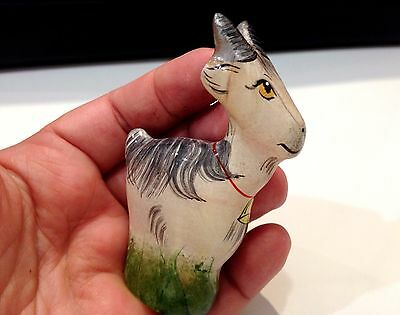 Goat figurine Selenite natural stone handmade Souvenirs from Russia