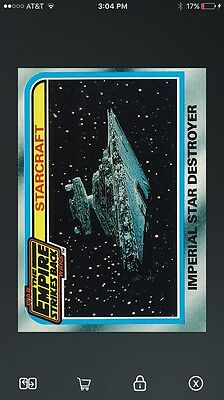 Topps Star Wars Card Trader ESB Selects Starcraft Imperial Star Destroyer Card