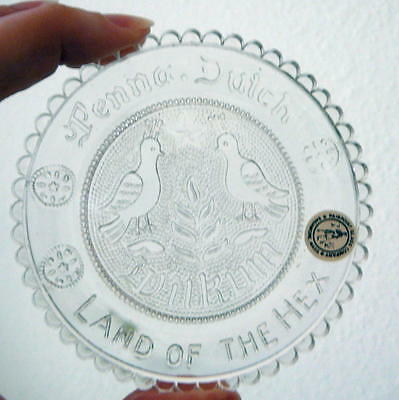 Pairpoint Cup Plate - Penna. Dutch Land of the Hex - Box & Paperwork