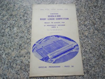 1964 Yorkshire Seven-A-Side Competition