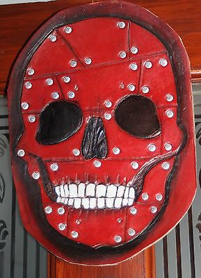 Red Leather scull, steampunk, Goth, Biker,Punk, cos play, Mask. weird