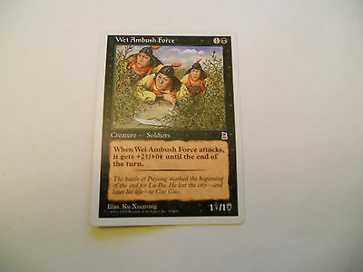 1x MTG Wei Ambush Force Magic EDH Portal Three Kingdoms P3K ING Inglese x1