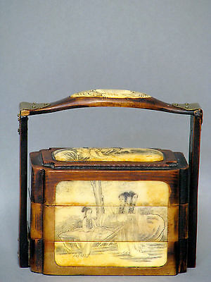Japanese Jewelry Box alter Japanische Schmuck Dose Japan um 1920-1940