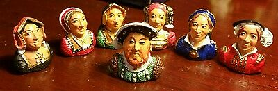 Complete Set Warwick Pewter Thimbles Henry Viii And 6 Wives By Stephen Frost