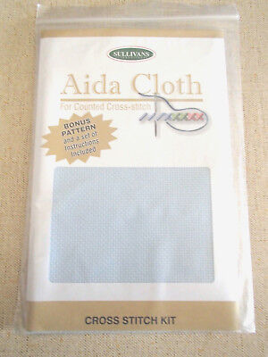 New Sullivans Blue 14 count Aida Cloth Pack 36 cm x 45 cm