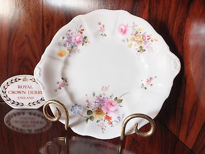 Royal Crown Derby DERBY POSIES Burford Shape Cake Plate -  - Excellent