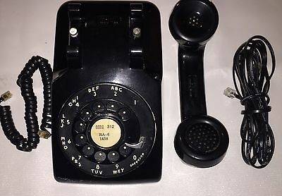 Vtg MAR 1954 BLACK Rotary Dial Western Electric 500 Telephone Works