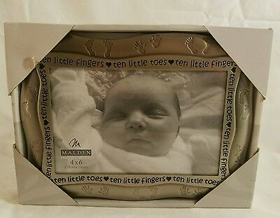 Baby Infant Picture Frame 4×6 Pewter MALDEN New In Box