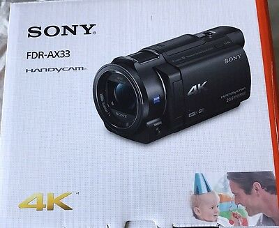 Brand New 4K Sony FDR-AX33 HD Video Recording Handycam Camcorder