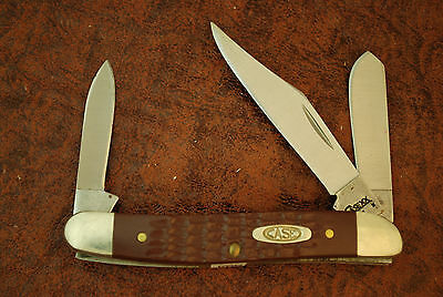 Case Xx Usa 2008 Brown Jigged Delrin Stockman Knife Nice 63087 Ss (998)
