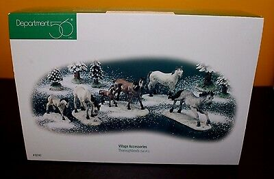 Dept. 56 Village Accessories THOROUGHBREDS Set of 5 Horses - NIB
