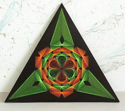 "String Art ""Triangle"" Sacred Geometry Psychedelic Wall Decor Spiritual Gift"
