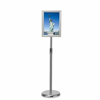 Smonet Adjustable Pedestal Sign Holder Floor Stand with Telescoping Post, Poster