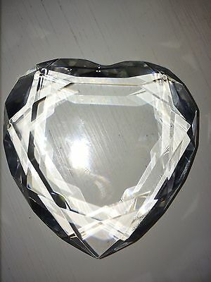 Rosenthal Faceted Clear Crystal Heart Paperweight